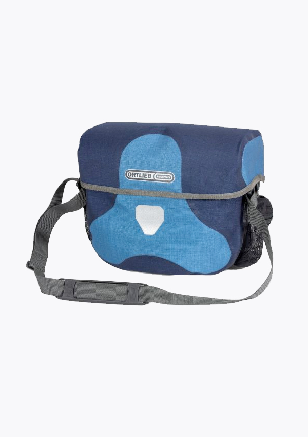blue waterproof handlebar bag