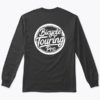 logo full long sleeve tshirt black back