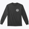 logo full long sleeve tshirt black front
