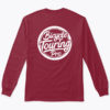 logo full long sleeve tshirt burgundy back