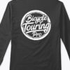 logo long sleeve tshirt black back