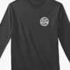 logo long sleeve tshirt black front
