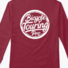 logo long sleeve tshirt burgundy back
