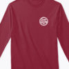 logo long sleeve tshirt burgundy front