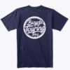 logo tshirt full blue back