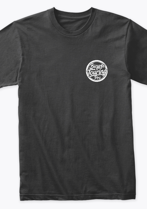 Bicycle Touring Pro - front and back logo tshirt