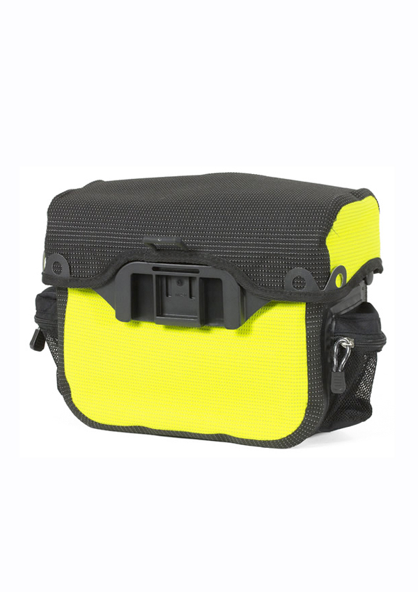 Ortlieb Ultimate 6 High visibility handlebar bag rear view