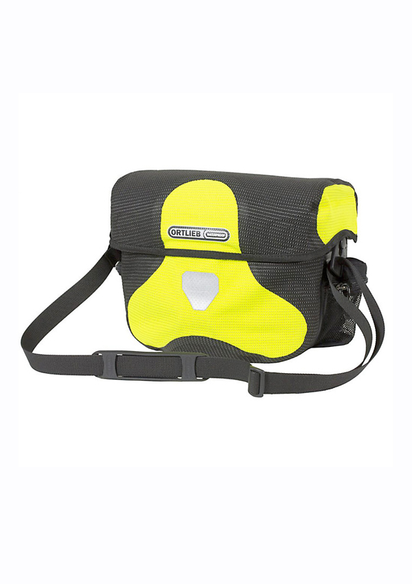 Ortlieb Ultimate 6 High-Visibility Handlebar Bag front view