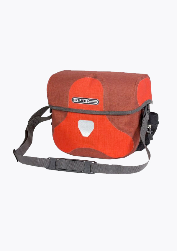 red waterproof handlebar bag