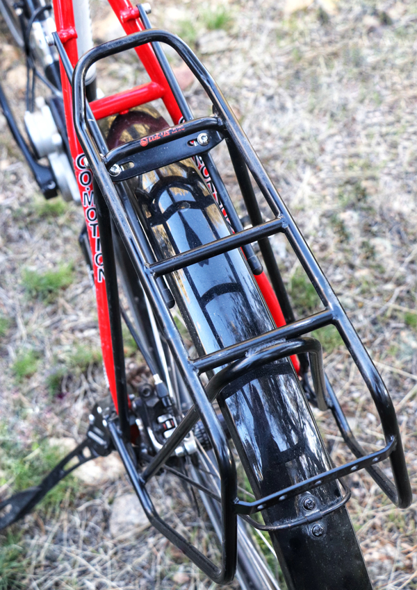 Top view of the Tubus Cargo Evo bicycle rack