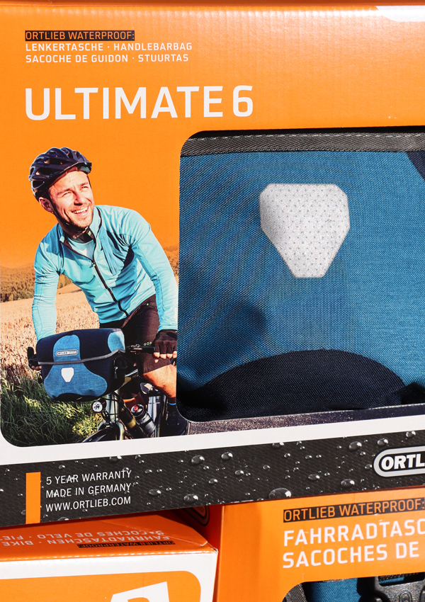 Ortlieb Ultimate 6 Plus handlebar bag in box