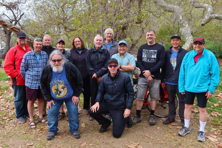 Group photo at the 2020 Bikes and Burritos tour