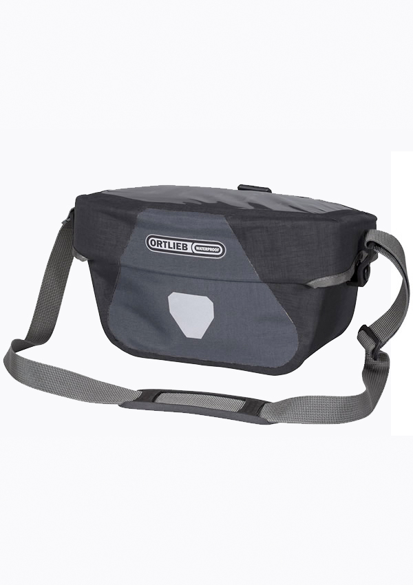 Ortlieb Ultimate 6 handlebar bag - 5 liter version with map case - black