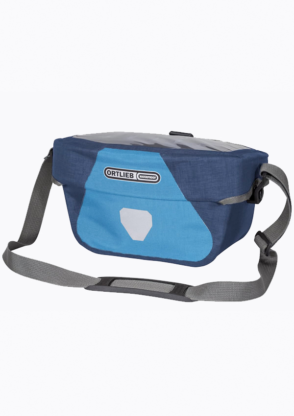 Ortlieb ultimate 6 blue handlebar bag with 5 liter map case