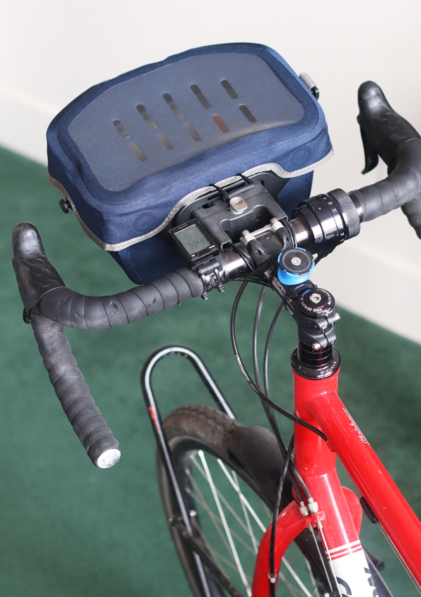 map case on the Ortlieb Ultimate 6 5 liter handlebar bag